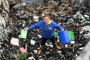 Innes Ferguson, 16, says his generation is 'really quite emotional' about plastic waste and wanted to do something about it. Picture: TSPL