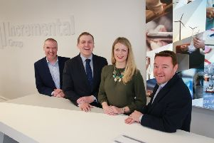 Craig Donnelly, Neil Logan, Jennifer Adams and Stuart Kerr of Incremental. Picture: Stewart Attwood