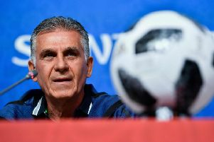 Iran coach Carlos Queiroz. Picture: Christophe Simon/AFP/Getty Images
