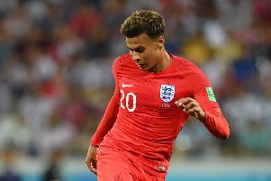England's Dele Alli has been hampered by a quad injury. Picture: Getty.