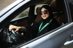 Fadya Fahad, 23, one of the first female drivers for Careem, a peer-to-peer ride sharing company similar to Uber. Picture: Getty