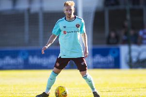 Hearts trialist Ali Crawford in action against Arbroath. Picture: Kenny Smith/SNS