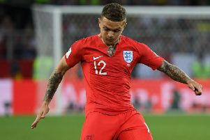 Kieran Trippier has created 12 chances for England at the World Cup from his right-back berth. Picture: AFP/Getty Images