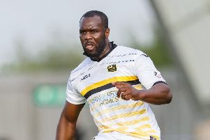 Christian Nade in action for Dumbarton. Picture: SNS Group