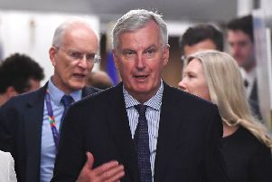 Barnier warned 'time is short' to make progress. Picture: AFP/Getty Images