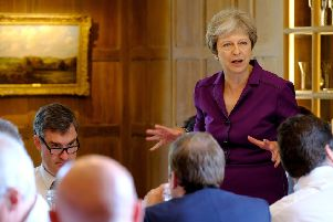 Prime Minister Theresa May and members of her Cabinet meet at her country retreat Chequers. Picture: Joel Rouse - Crown Copyright via Getty Images