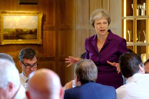 Theresa May speaks during a  cabinet meeting at Chequers, the Prime Minister's official country residence near Ellesborough in Buckinghamshire. Picture: PA