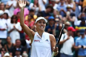 Angelique Kerber celebrates her win over Naomi Osaka of Japan. Picture: Matthew Lewis/Getty Images