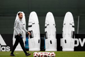 England's head coach Gareth Southgate is relishing his side's last-four clash against Croatia. Pic: Getty Images