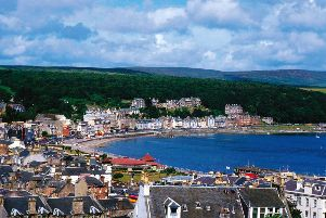 Rothesay, the chief town of Bute on the east coast of the island.