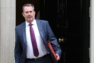 Britain's International Trade Secretary Liam Fox leaves 10 Downing Street in central London after attending the weekly cabinet meeting on July 10, 2018.  / AFP PHOTO / Isabel INFANTESISABEL INFANTES/AFP/Getty Images