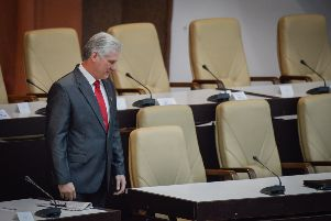Cuba's new President Miguel Diaz-Canel is pictured after he was formally named president by the National Assembly. Picture: ADALBERTO ROQUE/AFP/Getty Images