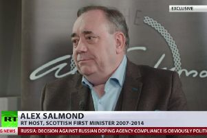 Former SNP leader Alex Salmond launched his current affairs programme in November last year