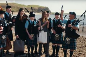 Her father famously used a pipe band on Kintyre to record his biggest selling single.'Now Sir Paul McCartney's daughter Stella has also used a local pipe band in the area for her latest fashion collection.