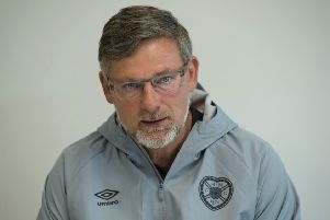 Hearts manager Craig Levein speaks to the press. Picture: SNS