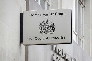 The case is being held at the court of protection