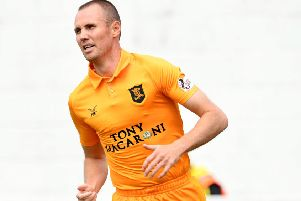 Player-manager Kenny Miller in action for Livingston. Pic: SNS/Craig Foy
