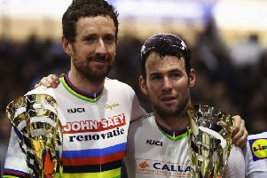 Sir Bradley Wiggins (L) and Mark Cavendish. Pic: Bryn Lennon/Getty Images