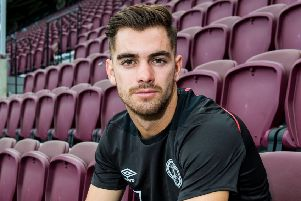 Hearts' summer signing Ben Garuccio is expected to make his competitive debut tonight. Picture: SNS.