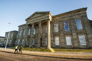 Pirie, of Bailleston, Glasgow, has now appeared at Hamilton Sheriff Court and admitted leaving the makeshift bomb at the flat in August 2015. Picture: John Devlin
