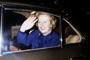When not waving to the crowds, Margaret Thatcher was prone to nodding off in the back of her official car, sparking safety fears and a special headrest. Picture: PA