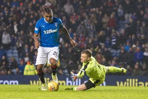 Alfredo Morelos, pictured, finished runner-up to Kris Boyd last season. Picture: SNS