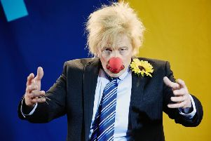 Britain's biggest political comedian Boris Johnson (seen played by Rory Bremner) is no laughing matter (Picture: BBC/Vera Producations)
