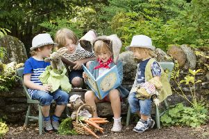 'Scotland's Storybook Trail' by Visit Scotland alights at The Beatrix Potter Exhibition & Garden at Birnam Arts, Perthshire
