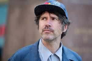 Gruff Rhys admits he isn't the chattiest of frontmen, but his solo gigs are still rich with language, both written and sung. Picture: Tracey Paddison/REX/Shutterstock