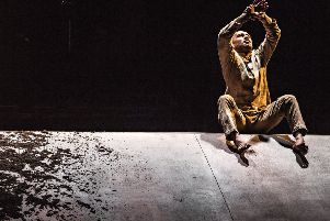 Akram Khan ends the performance caked in dirt. Picture: Jean Louis Fernandez