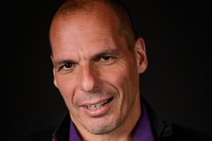 Yanis Varoufakis emphasised winning over the Right's voters. Picture: Edinburgh Book Festival
