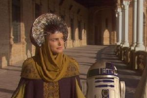 Natalie Portman wore the gown in Star Wars: Attack Of The Clones.