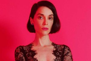 Pop tornado St Vincent - aka Annie Clark ' pumped out a pulsing electronic soundtrack