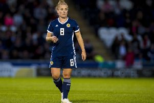 Kim Little in action for Scotland. Pic: SNS