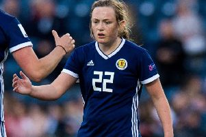 Erin Cuthbert - 'gallus, with a winning mentality'. Picture: SNS.
