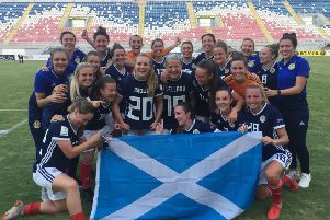 Scotland celebrate after victory over Albania meant they qualified for the World Cup in France next year