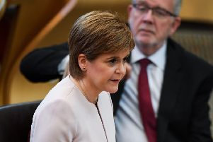 First Minster Nicola Sturgeon at the Scottish Parliament (Photo by Jeff J Mitchell/Getty Images)