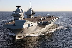 The HMS Queen Elizabeth was built in Rosyth, Fife. Picture: WikiCommons/Dave Jenkins/InfoGibraltar
