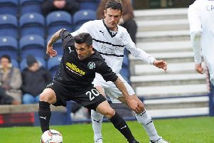 Nacho Novo playing for Morton. Pic: JP