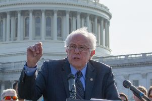 Senator Bernie Sanders wants the US Government to impose a new tax on businesses based on the welfare payments it gives to their staff (Picture: Tasos Katopodis/Getty Images)