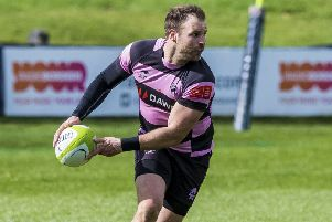 Frazier Climo in action for Ayr. Pic: SNS/SRU