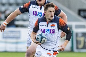 Henry Pyrgos: Flying high in scrum-half snakes and ladders. Picture: SNS/SRU.