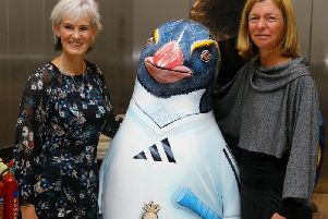 Judy Murray paid 10,000 to secure a penguin inspired by her son Andy's heroics on the tennis court.