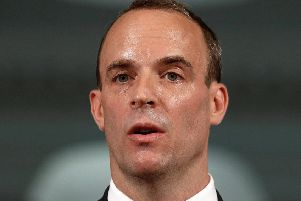 Brexit Secretary Dominic Raab,  has insisted that the Government is ready to take Britain out of the EU without a deal if necessary, warning Brussels: 'Our willingness to compromise is not without limits.' Picture: Peter Nicholls/PA Wire