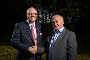 Left to right: George Morris, chairman of Morris & Spottiswood, and Fred Jamieson, managing director of Livingston Mechanical Services. Picture: Malcolm Cochrane