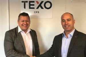 Andrew Robson, newly appointed managing director at Texo CFS, and Darren Carlisle, operations director at Texo CFS. Picture: Contributed
