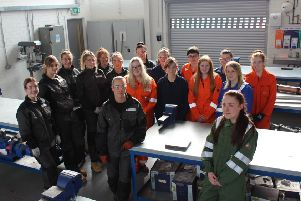 Forth Valley College hopes its record intake of female engineering apprentices will inspire more women to join the sector. Picture: Contributed