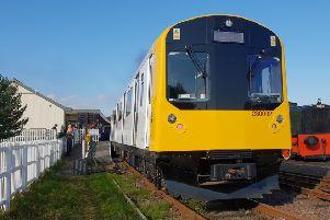 The new train cars carry two 100kWh Lithium batteries. Pic: Darrel Hendrie