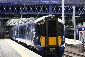 The first of ScotRail's new Hitachi class 385 trains were taken out of service due to a faulty brake control system. Picture: John Devlin