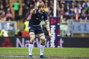 Richie Gray in action for Scotland during the 2018 Six Nations tournament - but could the lock be a doubt for next year's event? Picture: SNS Group